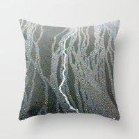 lightning Throw Pillows featuring Lightning  by Ethna Gillespie