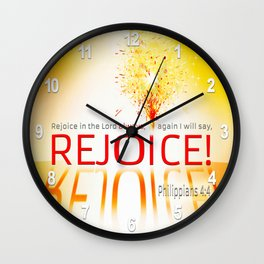 REJOICE! Wall Clock