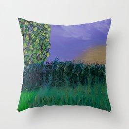 Backyard Sunrise Throw Pillow