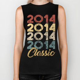 Vintage Classic 2014 Shirt 4th Birthday Party Celebration Gifts Biker Tank