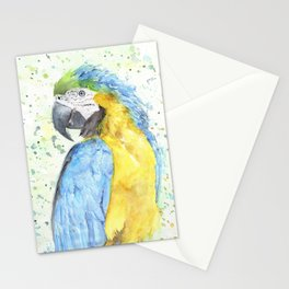 """Watercolor Painting of Picture """"Macaw"""" Stationery Cards"""