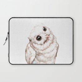 Baby Snowy Owl Laptop Sleeve