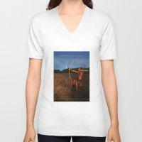 sagittarius V-neck T-shirts featuring Sagittarius by Viggart