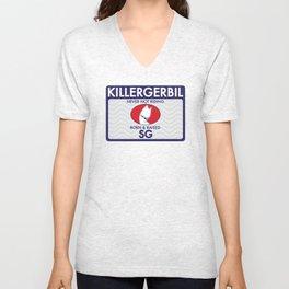 Killer Gerbil Tubing Blue Unisex V-Neck