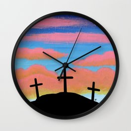 Jesus Christ and Him Crucified Wall Clock