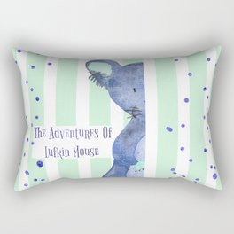 The Adventures Of Lufkin Mouse - Denim Blue - Bagaceous Rectangular Pillow