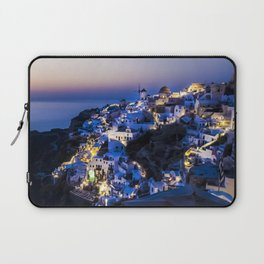 Santorini Island NightView Greece Laptop Sleeve