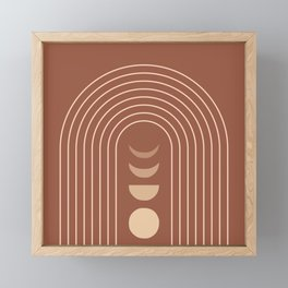 Mid Century Modern Geometric 10 (Moon phases) Framed Mini Art Print