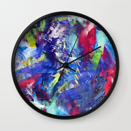 Blue Paint Splash Wall Clock