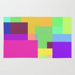 Colorful Retangles 2 Abstract Art Pattern Digitalart Home Decor Gift Rug