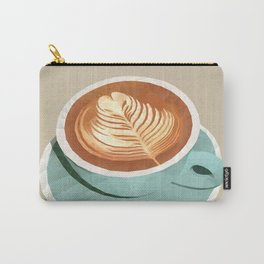 Coffee with Latte Art Polygon Art Carry-All Pouch