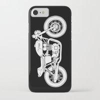 cafe racer iPhone & iPod Cases featuring Triumph Bonneville - Cafe Racer series #3 by Daniel Feldt