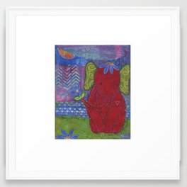 Play with Me Mixed Media Collage Art  Framed Art Print