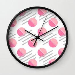 Modern Pink Circle Line Abstract Wall Clock