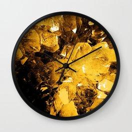 Golden Geode Wall Clock