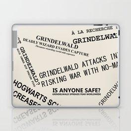 1926 Wizard Newspaper Headlines - Grindelwald Laptop & iPad Skin