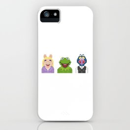 Kermit Miss Piggy And Gonzo The Muppets Pixel iPhone Case