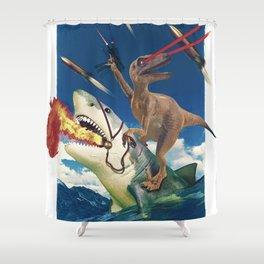 Crazy Raptor Shower Curtain