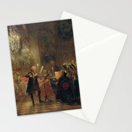 Adolph von Menzel - Concert for Flute with Frederick the Great in Sanssouci (1852) Stationery Cards