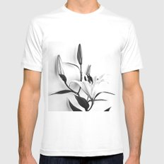 Lilium Mens Fitted Tee MEDIUM White