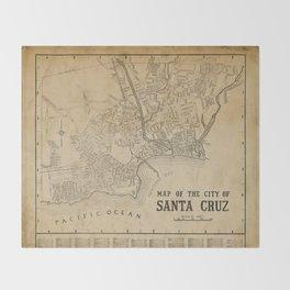Santa Cruz Vintage Map Throw Blanket