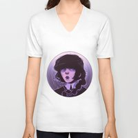 goth V-neck T-shirts featuring shoujo goth by Frank Odlaws