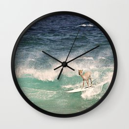 NEVER STOP EXPLORING - SURFING HAWAII Wall Clock
