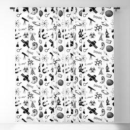 Symbols of Science Blackout Curtain