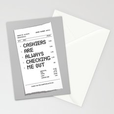Cashiers Are Always Checking Me Out. Stationery Cards