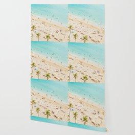 Waikiki beach in Hawaiian summer. Wallpaper