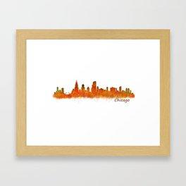 Chicago City Skyline Hq v2 Framed Art Print