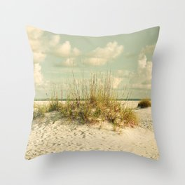 Tropical Beach Vibes Throw Pillow