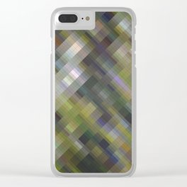 Digital camouflage. Abstract gradient art geometric background with soft color tone, cell grid. Idea Clear iPhone Case
