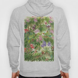 Birds and Orchids Tropical Rainforest II Hoody