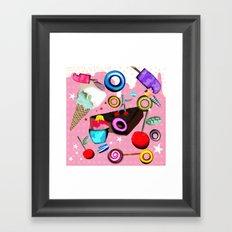 Delicious Pink Dessert Framed Art Print