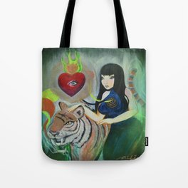"""""""5: Kiss Like Painted Tigers but We Bleed Like No One Does"""" Tote Bag"""