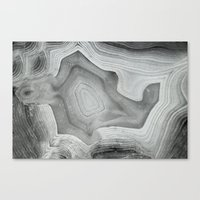 mineral Canvas Prints featuring MINERAL MONOCHROME by Catspaws