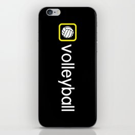 Volleyball (Yellow) iPhone Skin