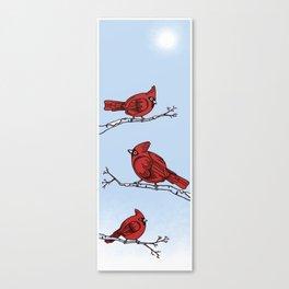 Winter Cardinals  Canvas Print