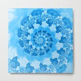 Endless Ocean Blue Spiral Metal Print