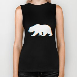 Psychedelic Bear Gift for Animal Lovers who Love Big Bears Psy Trance Music Biker Tank