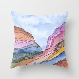 Canyon Cathedral 3 Throw Pillow