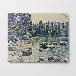 Mountain Lake, Yosemite, California Metal Print