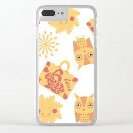 Travel pattern 4bg Clear iPhone Case