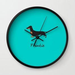 Frankie the Dachshund Wall Clock