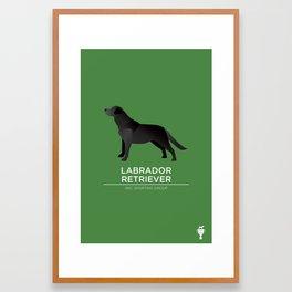 Black Labrador Retriever Framed Art Print
