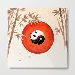 Panda yin-yang Metal Print