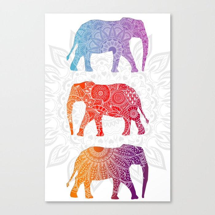 Elephantz II Canvas Print