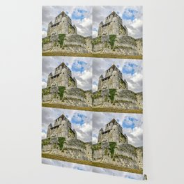 Medieval Castle on a Hill Wallpaper