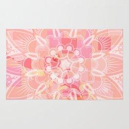 Abstract Peach Flower Rug